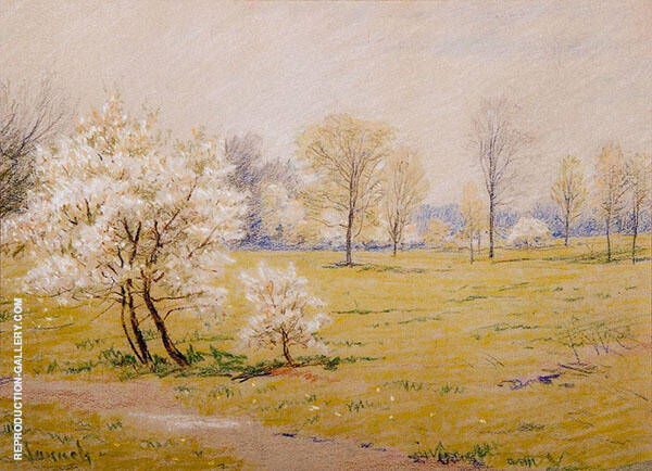 Spring Blossoms By Robert William Vonnoh