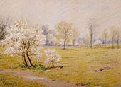 Spring Blossoms By Robert William Vonnoh