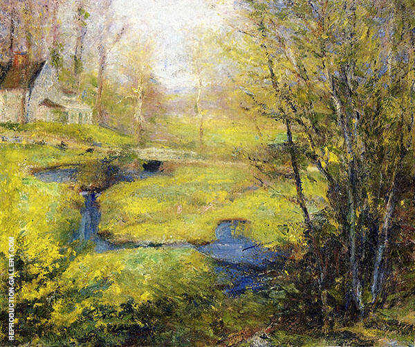 Springtime By Robert William Vonnoh