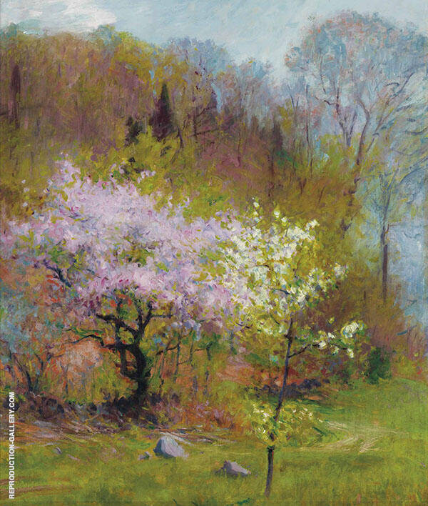 Spring Trees By Robert William Vonnoh