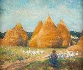 Tending The Flock c1908 By Robert William Vonnoh
