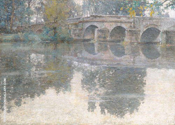 The Bridge at Grez c1907 By Robert William Vonnoh