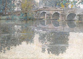 The Bridge at Grez c1907 By Robert William Vonnoh