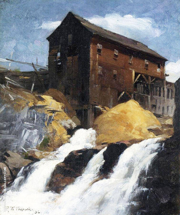 The Mill 1884 By Robert William Vonnoh