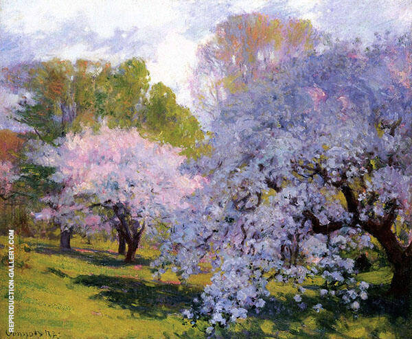 The Orchard Painting By Robert William Vonnoh - Reproduction Gallery
