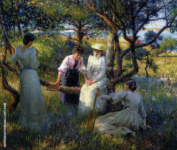 The Ring Painting By Robert William Vonnoh - Reproduction Gallery