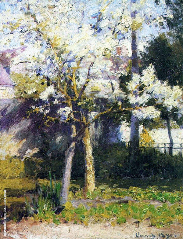 Trees at Gertz Painting By Robert William Vonnoh - Reproduction Gallery