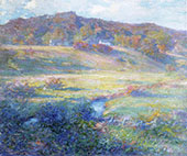 Turquoise Rose and Gold By Robert William Vonnoh