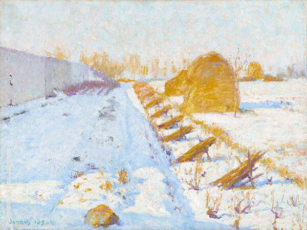 Winter Sun and Shadow 1890 By Robert William Vonnoh