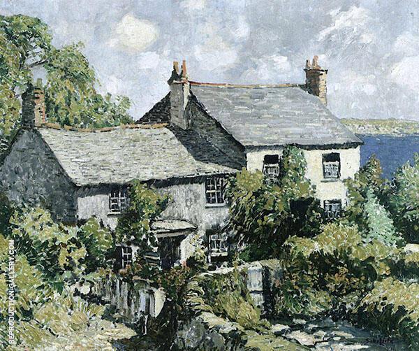 Cornish Cottage By Walter Elmer Schofield