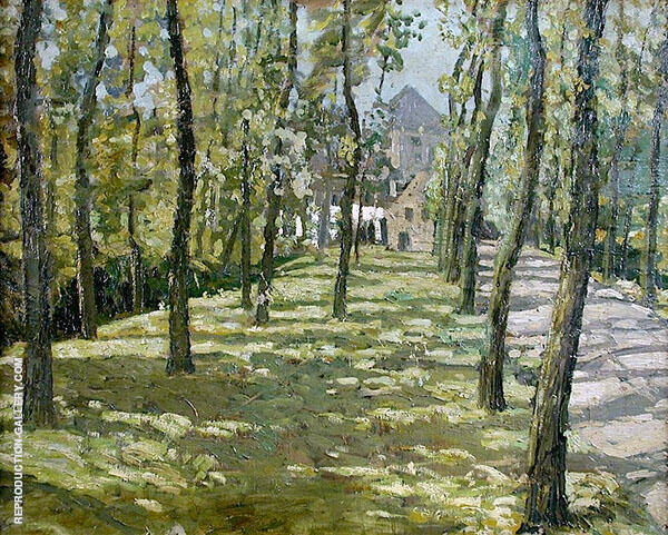 Farmhouse within Trees By Walter Elmer Schofield