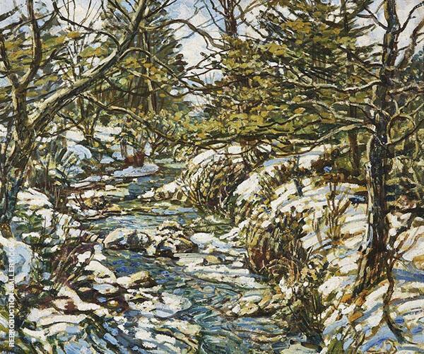 First Snow Fall By Walter Elmer Schofield
