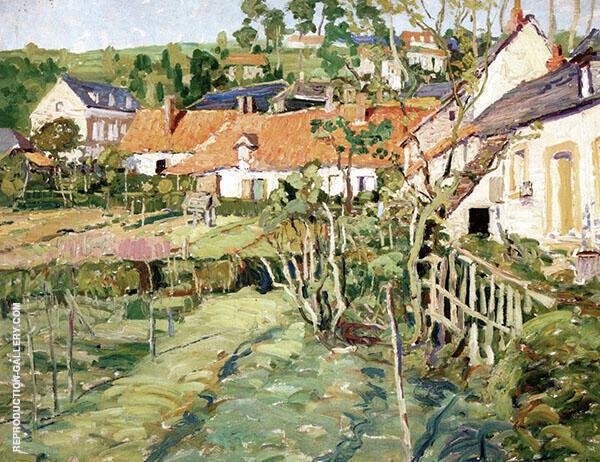 French Village c1910 By Walter Elmer Schofield