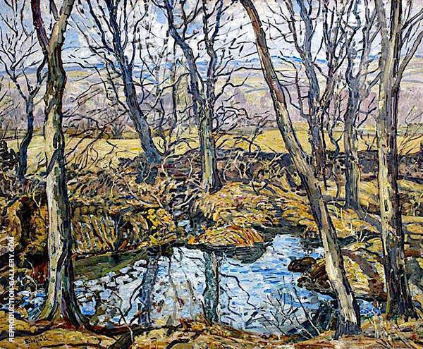Godolphin Pond in Autumn 1940 By Walter Elmer Schofield