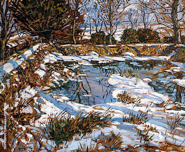 Godolphin Pond in The Snow 1940 By Walter Elmer Schofield