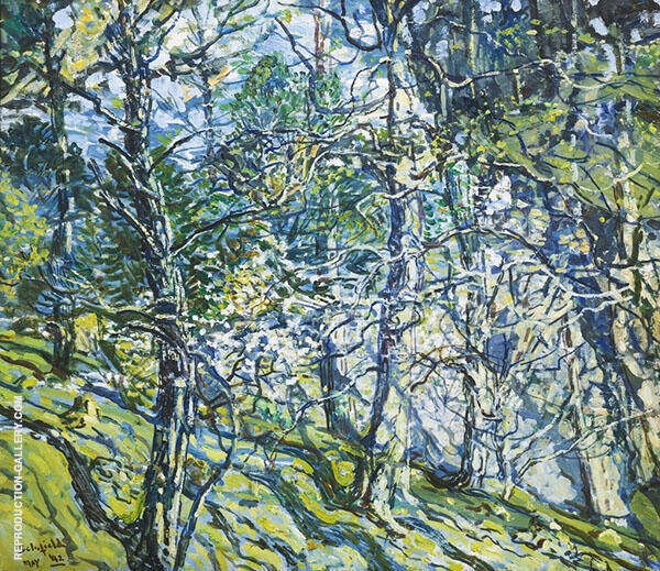 Green and Silver 1942 By Walter Elmer Schofield