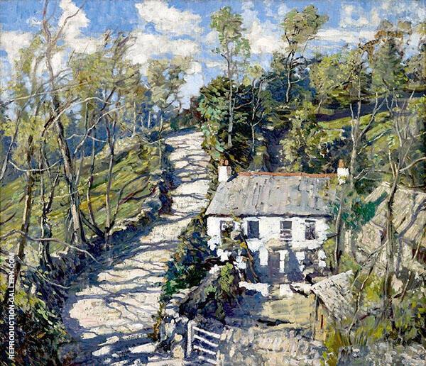 Hillside Farm Cornwall By Walter Elmer Schofield