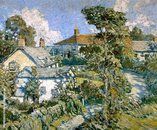 Hill Town Cornwall 1913 By Walter Elmer Schofield