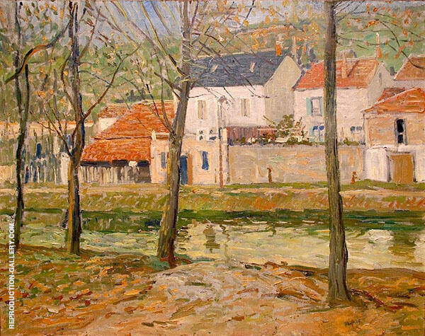 Houses on Delaware Canal c1900 By Walter Elmer Schofield