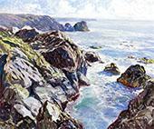 Sunlit Coast By Walter Elmer Schofield