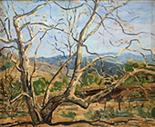 Sycamore in a Fall Landscape By Walter Elmer Schofield