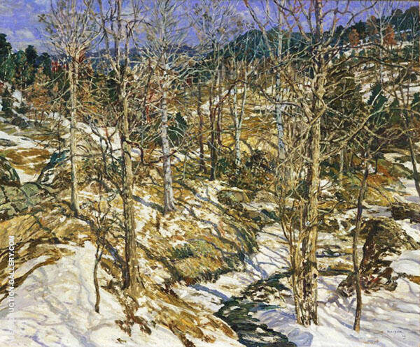 The Birches 1922 By Walter Elmer Schofield