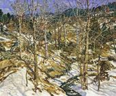 The Birches 1922 By Walter Elmer Schofield