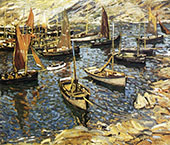 The Outer Harbor Polperro 1913 By Walter Elmer Schofield