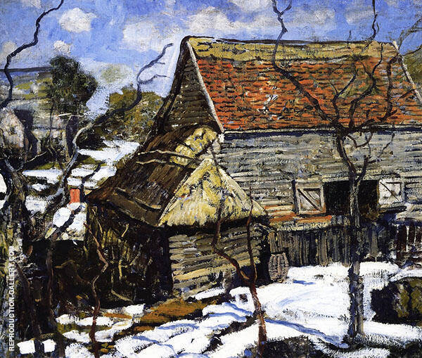 The Red Barn c1930 By Walter Elmer Schofield