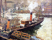 The Steam Trawlers Boulogne 1909 By Walter Elmer Schofield