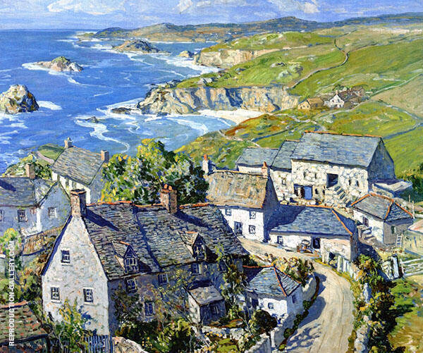 Trenwith Cornish Farm By Walter Elmer Schofield