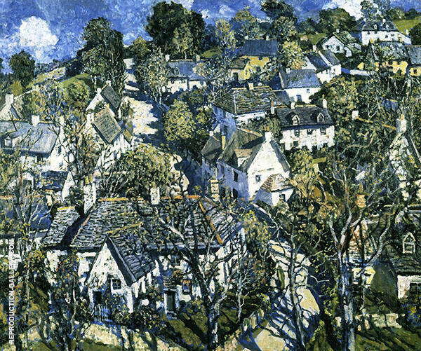 Village in Devon 1933 By Walter Elmer Schofield