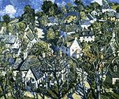 Village in Devon 1933 By Walter Elmer Schofield