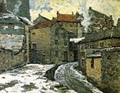 Village in Winter c1910 By Walter Elmer Schofield