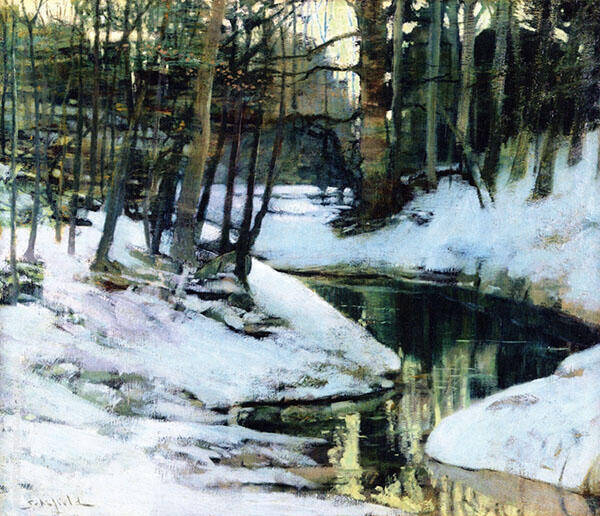 White Frost 1899 By Walter Elmer Schofield