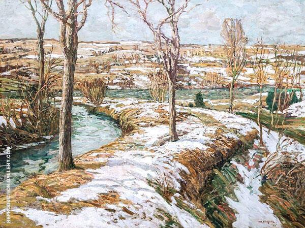 Winter Landscape 1909 By Walter Elmer Schofield