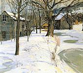Winter Landscape c1910 By Walter Elmer Schofield