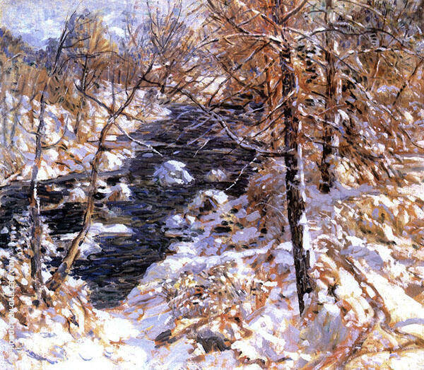 Winter Stream 1925 By Walter Elmer Schofield