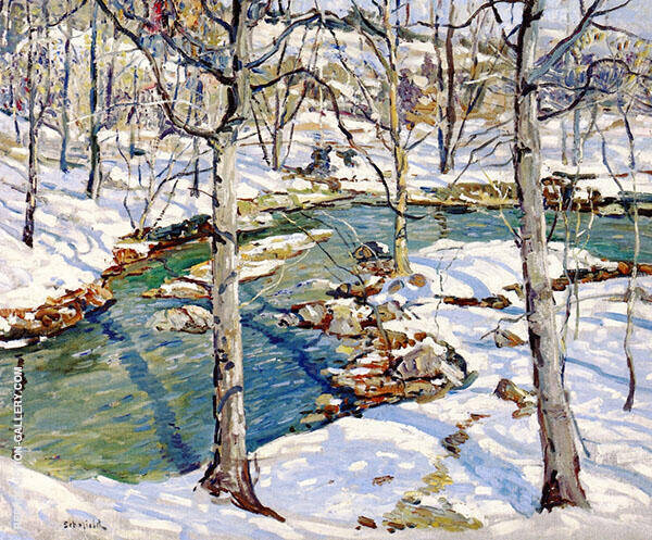 Wintry Stream 1924 By Walter Elmer Schofield