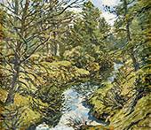 Woodland Stream By Walter Elmer Schofield