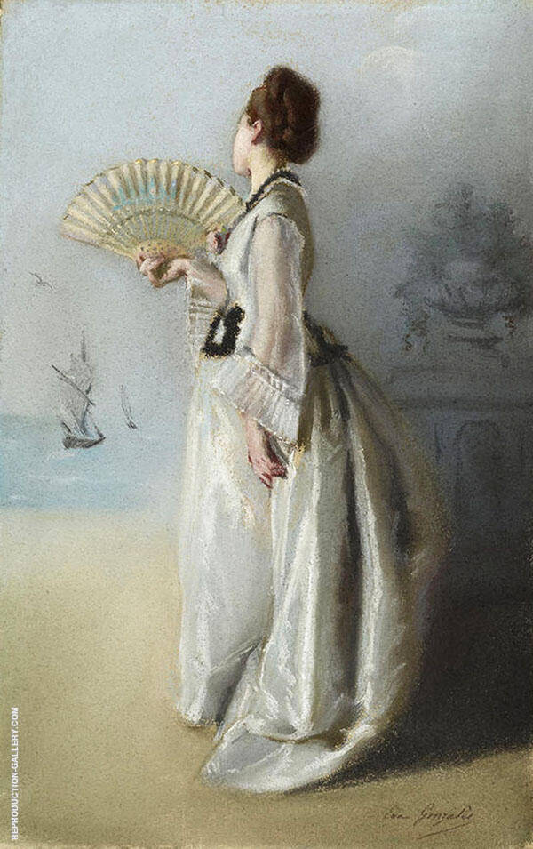 Lady with a Fan By Eva Gonzales