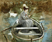 In the Boat By Eva Gonzales
