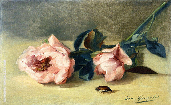 Peonies and June Bug By Eva Gonzales