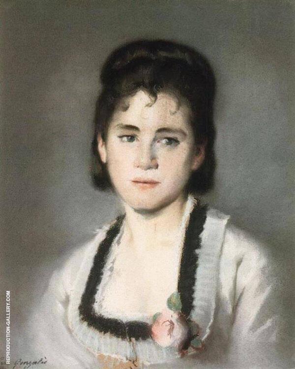 Portrait de Jeanne Gonzales By Eva Gonzales