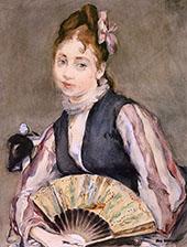 Portrait de Jeanne Gonzales c1872 By Eva Gonzales