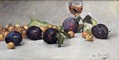 Prunes Raisins et Verre d'eau By Eva Gonzales