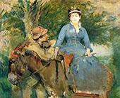 The Donkey Ride 1880 By Eva Gonzales