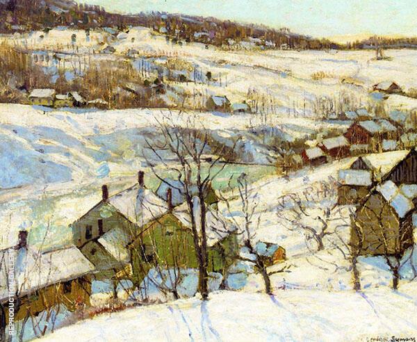 Berkshire Hills Winter Painting By George Gardner Symons