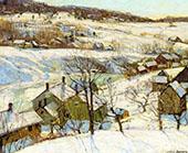 Berkshire Hills Winter By George Gardner Symons