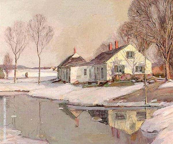 Evening Light in Winter Painting By George Gardner Symons